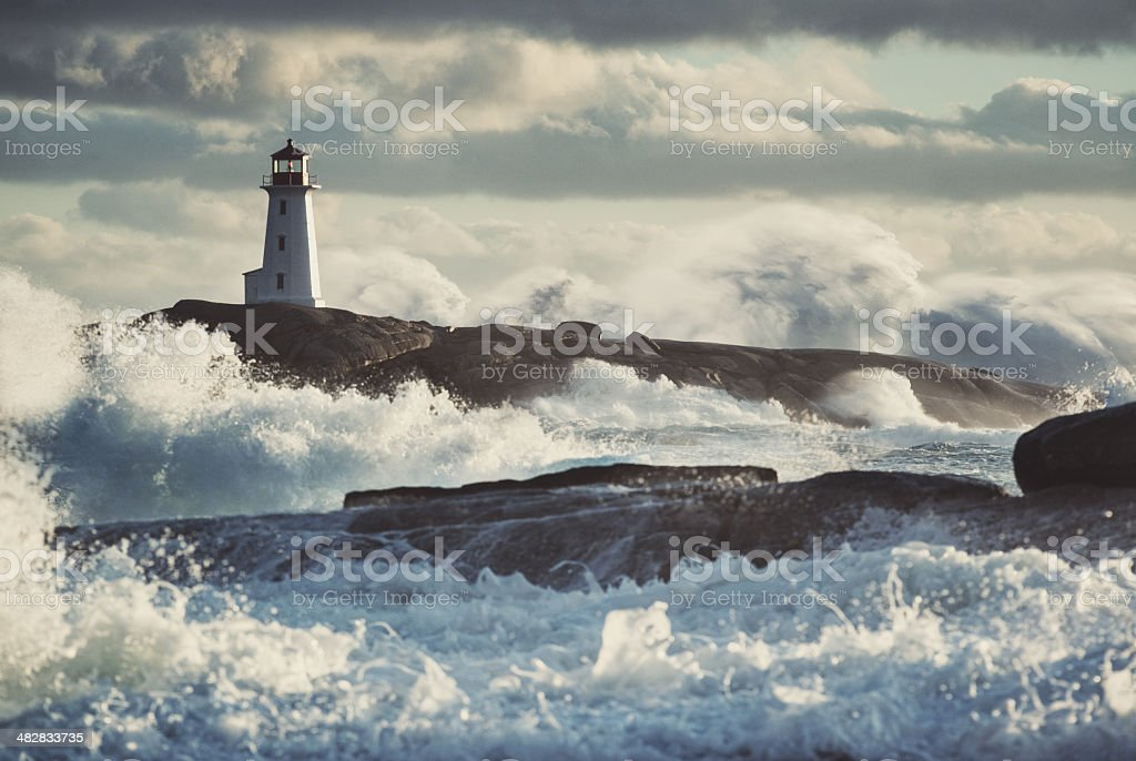 Nor'Easter at Peggy's stock photo