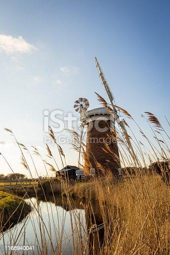 Landscape of iconic Norfolk landmark - Horsey Windpump