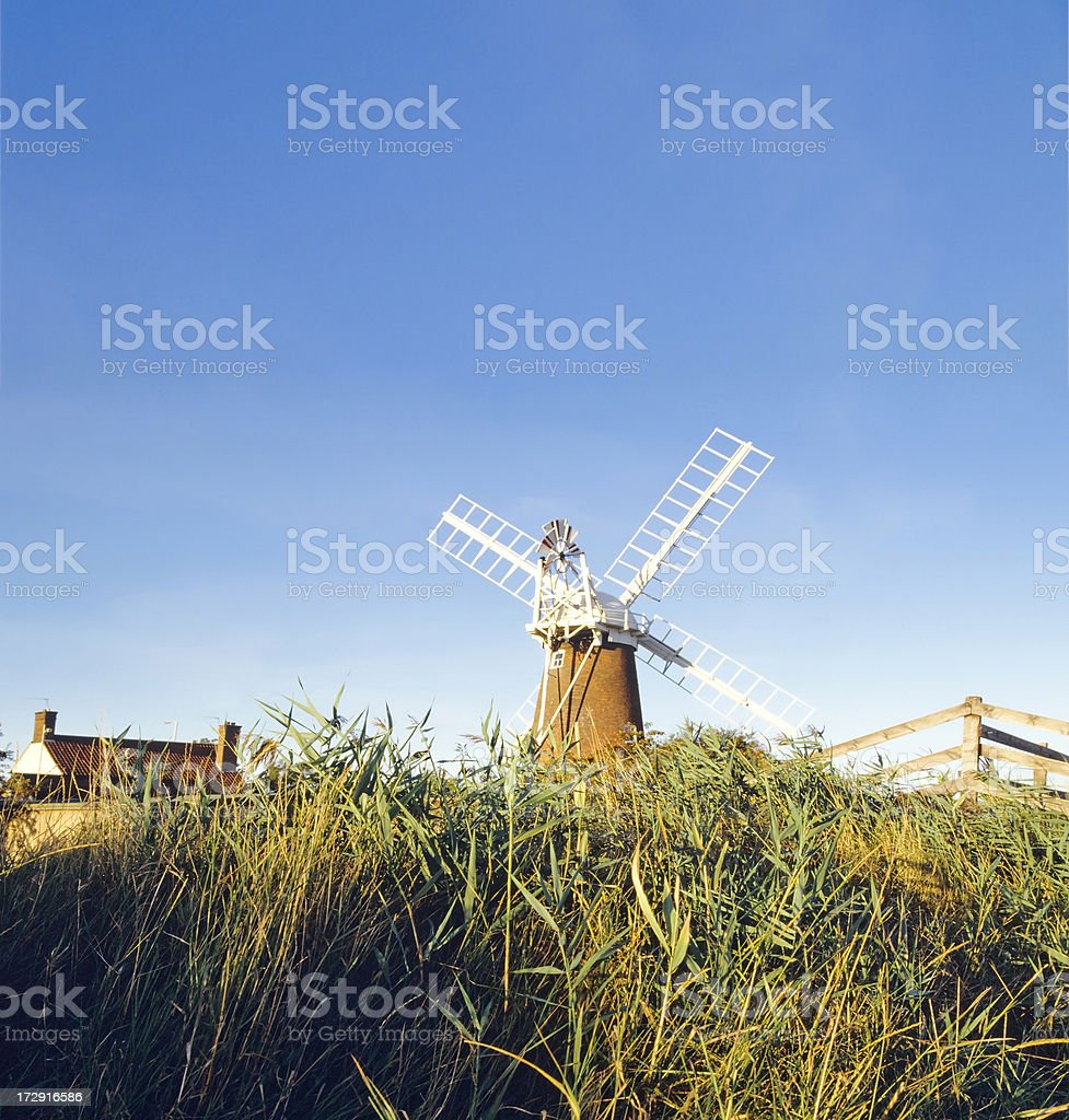 norfolk broads royalty-free stock photo