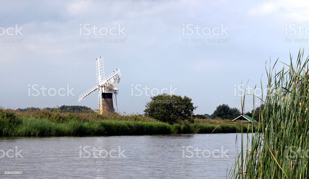 Norfolk Broads UK stock photo
