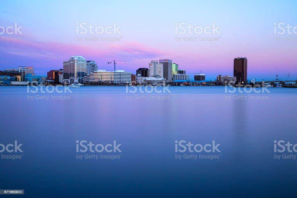 Norfolk City Skyline stock photo