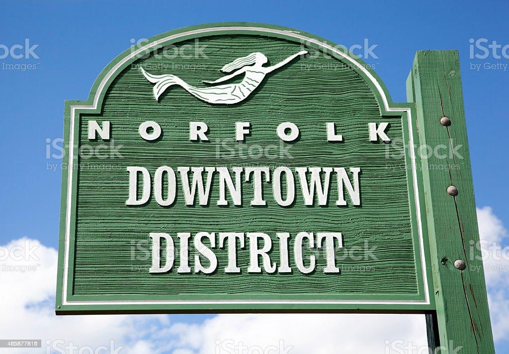 Norfolk Sign stock photo