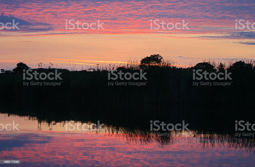 Norfolk Sunset Reflection royalty-free stock photo