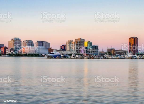 Skyline of downtown Norfolk, Virginia, July 2018
