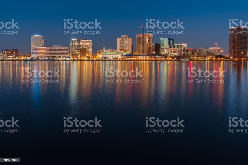 Norfolk Va. skyline stock photo