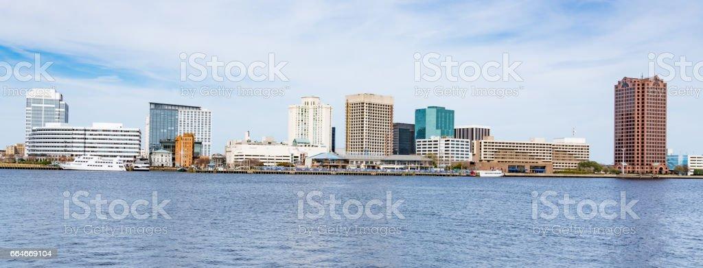 Norfolk, Virginia city skyline stock photo