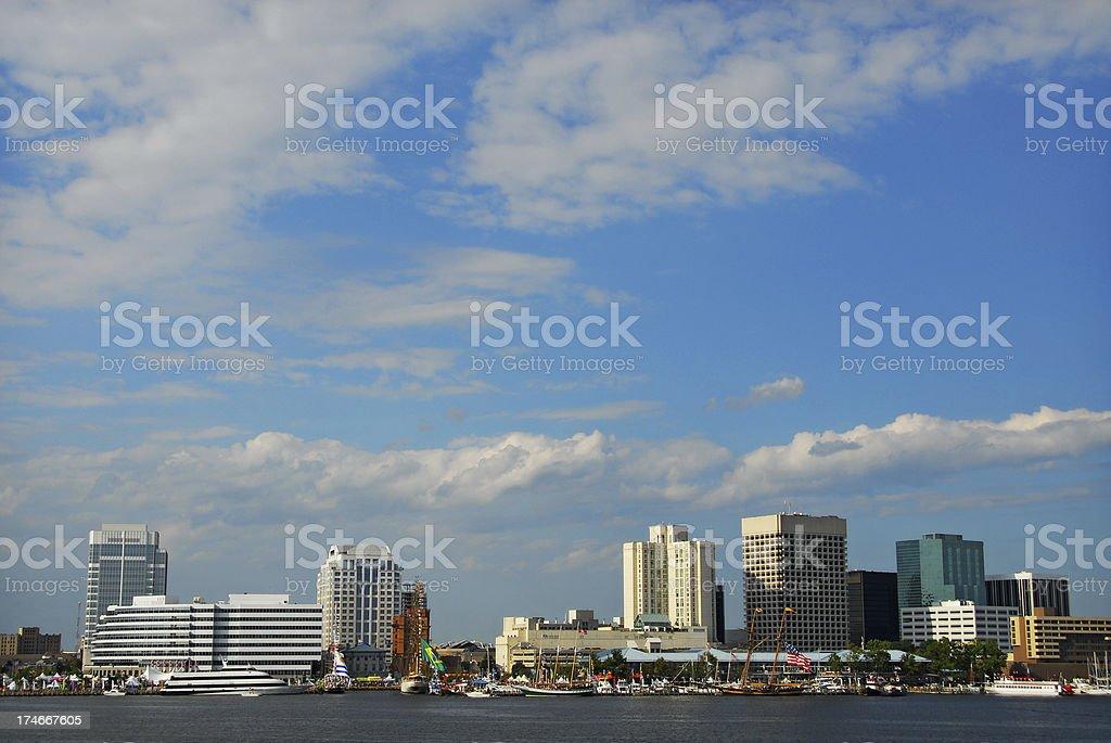 Norfolk Virginia Harbor stock photo