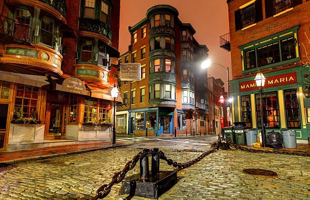 Norh End Boston stock photo