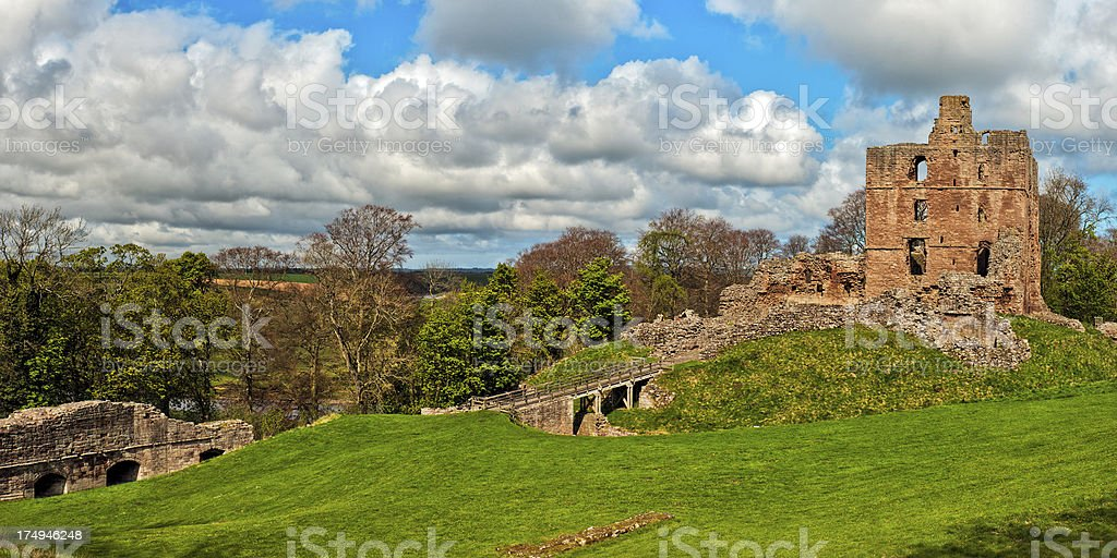 Norham Castle, Berwick-upon-Tweed, Northumberland, UK stock photo