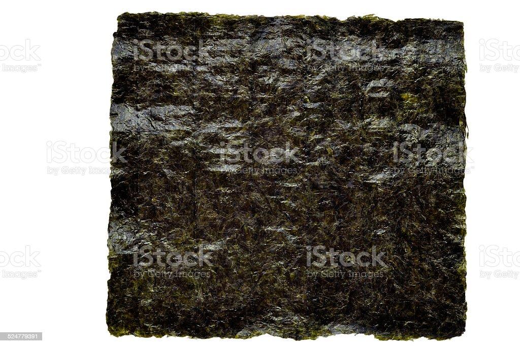 Nori seaweed sheet on a white stock photo