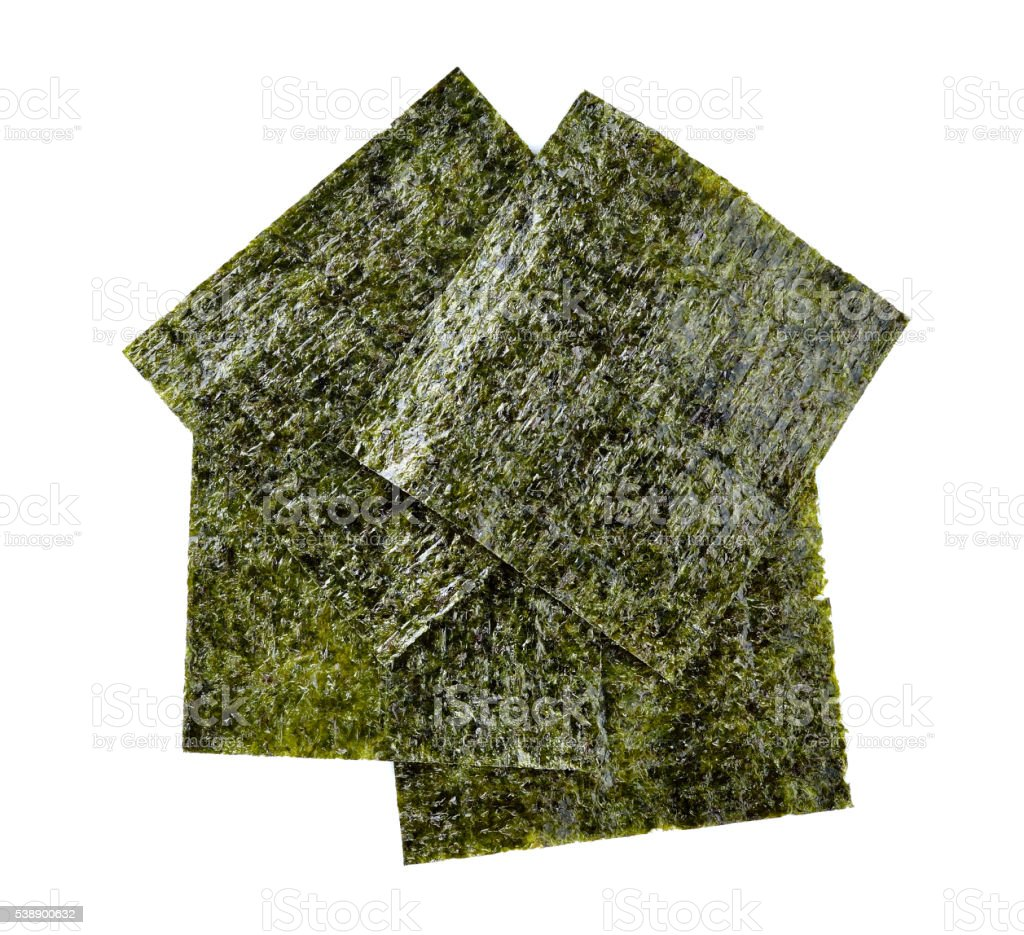 Nori sheets isolated on white background stock photo