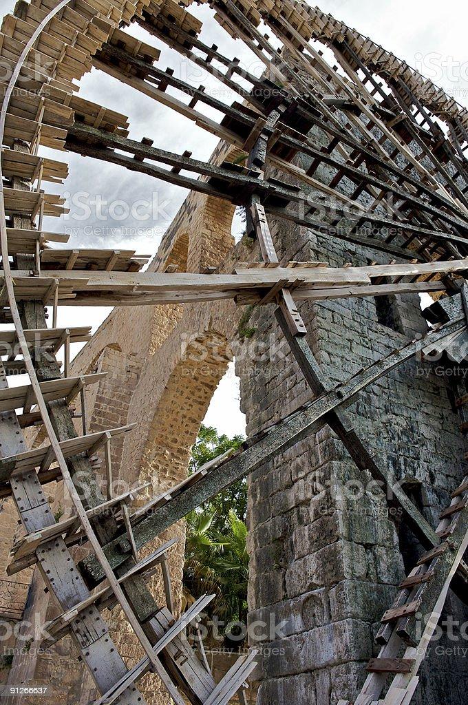 Noria in the city of Hama, Syria stock photo