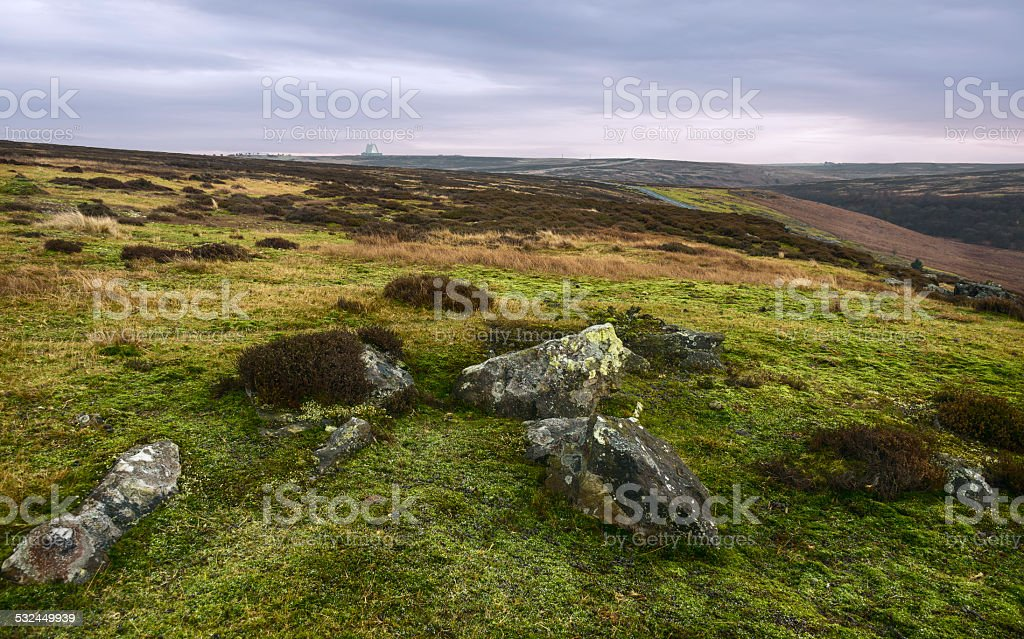 Nork York Moors at dawn, Goathland, Yorkshire, UK. stock photo