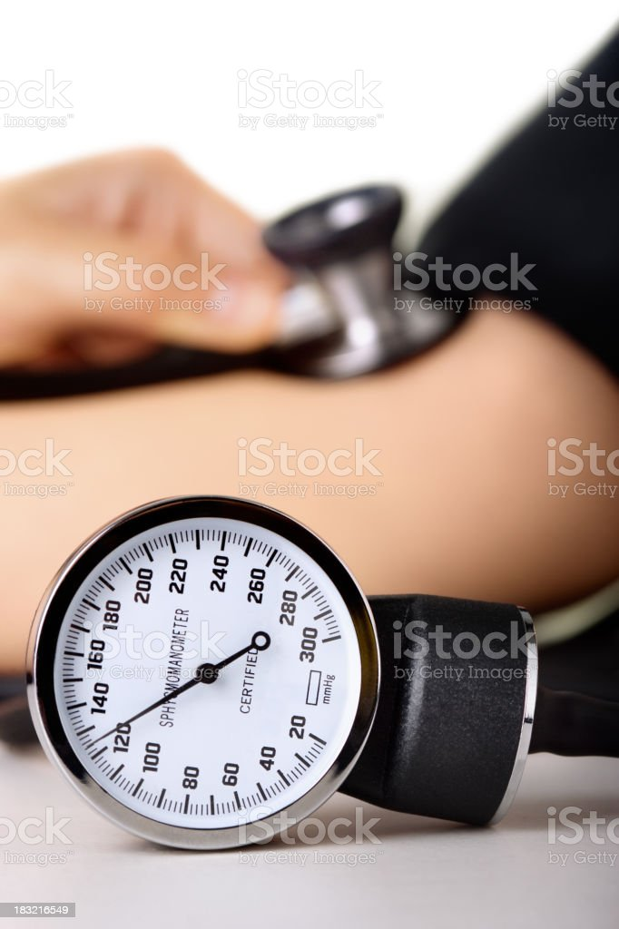 Normal Blood pressure reading royalty-free stock photo