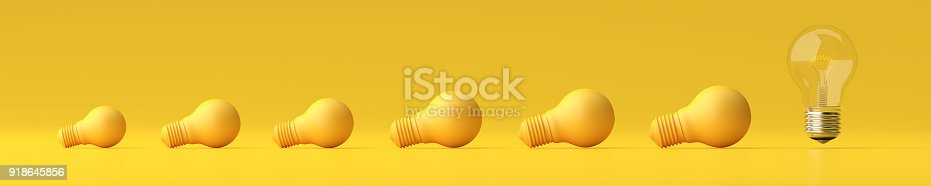 istock Normal bulb standalone from plastic bulb - 3d illustration Design. 918645856