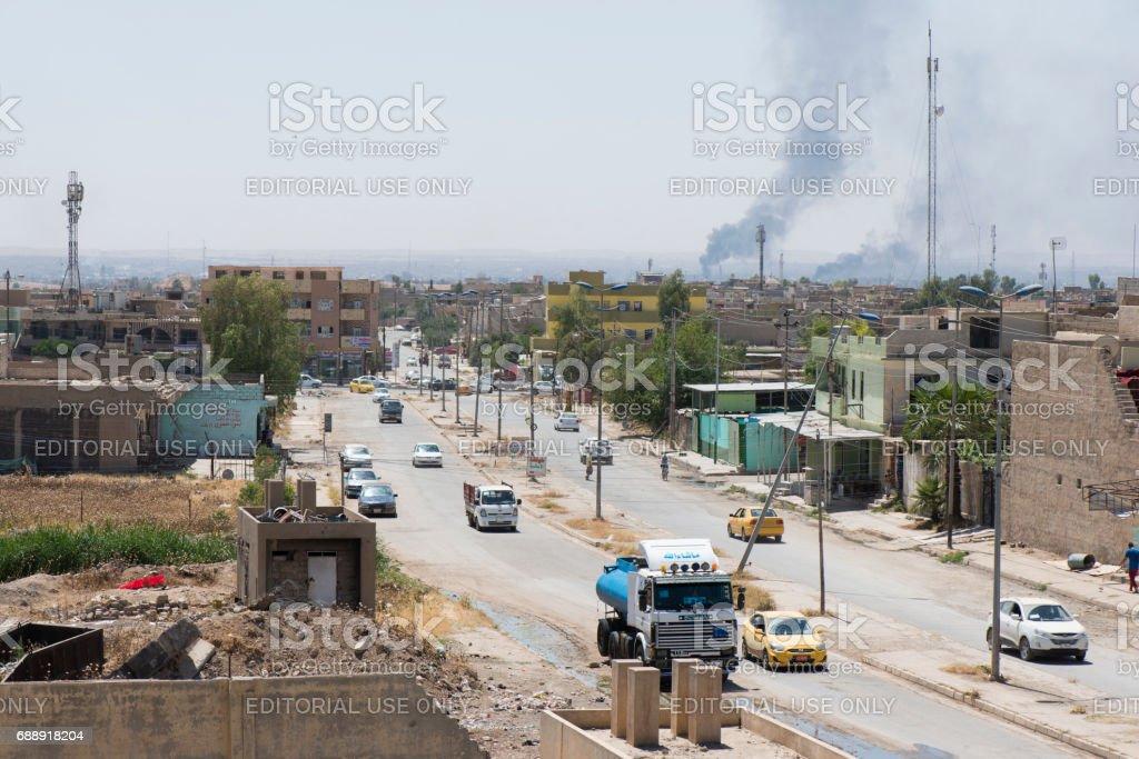 Normales Leben gegenübergestellt Mosul, Irak-Konflikt – Foto