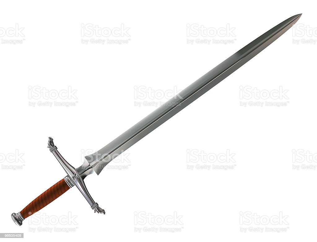 Norman battle sword stock photo