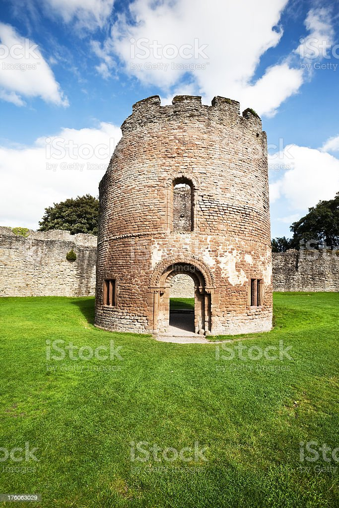 Norman Chapel in Ludlow Castle stock photo