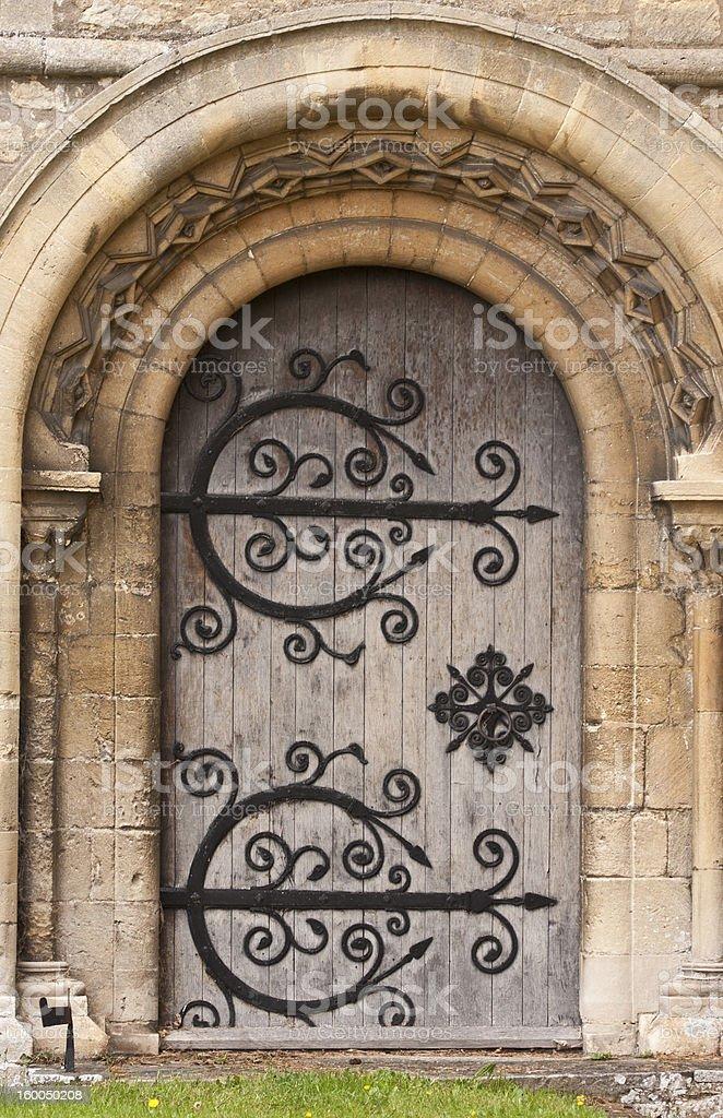 Norman door royalty-free stock photo