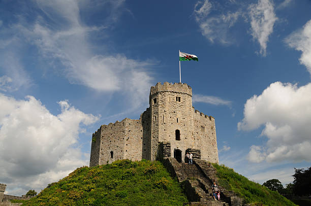 Norman Keep, Cardiff Castle, Wales stock photo