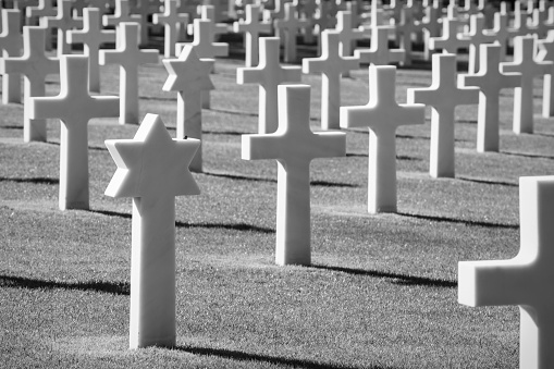 Normandy American Cemetery and Memorial in Colleville-sur-Mer, F