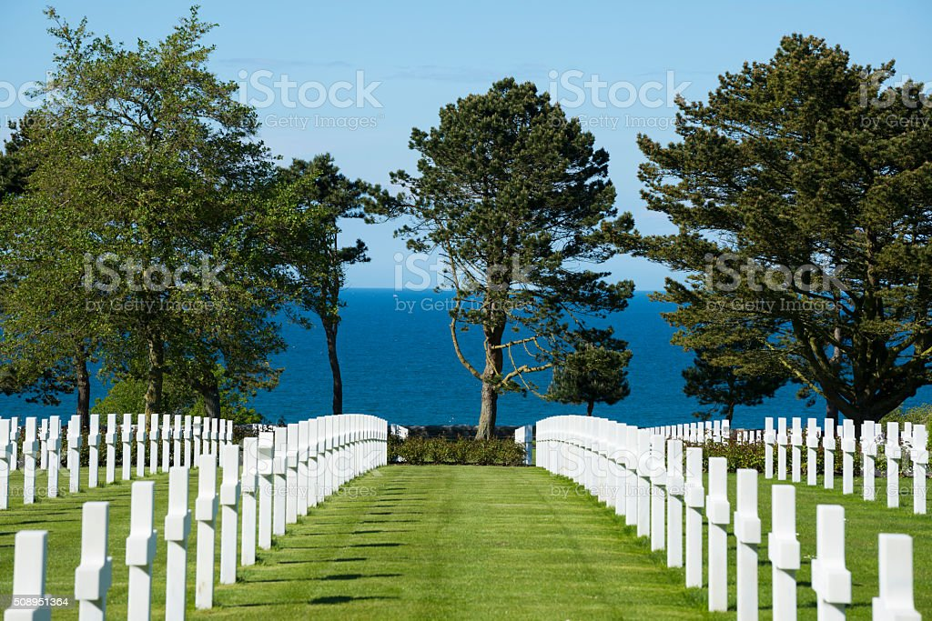 Normandy American Cemetery and Memorial in Colleville-sur-Mer, F stock photo