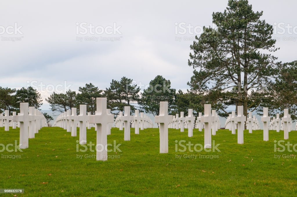 Normandy American Cemetery and Memorial stock photo