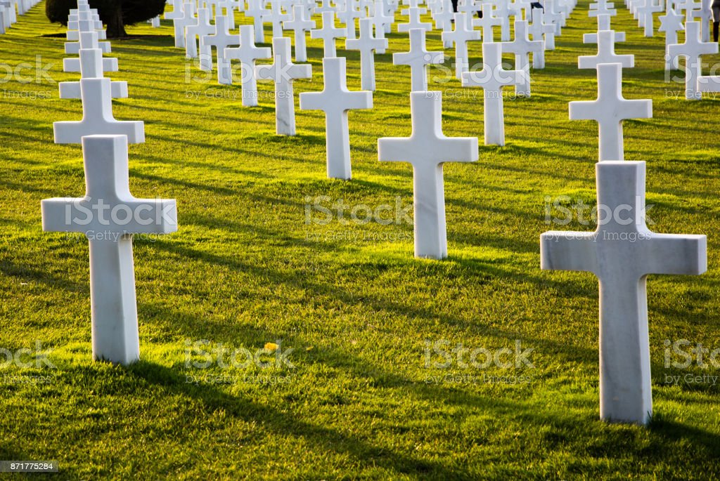 Normandy American Cemetery Colleville stock photo