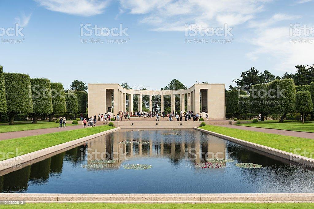 Normandy American Memorial stock photo
