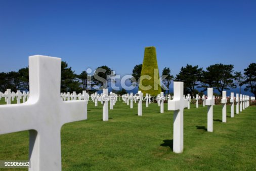 istock Normandy American War Cemetery and Memorial at Omaha Beach 92905552