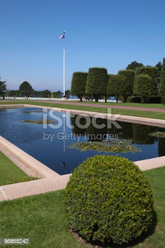 istock Normandy American War Cemetery and Memorial at Omaha Beach 95855242