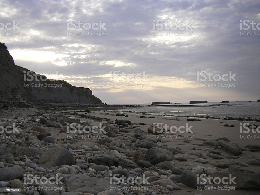 Normandy Beach royalty-free stock photo