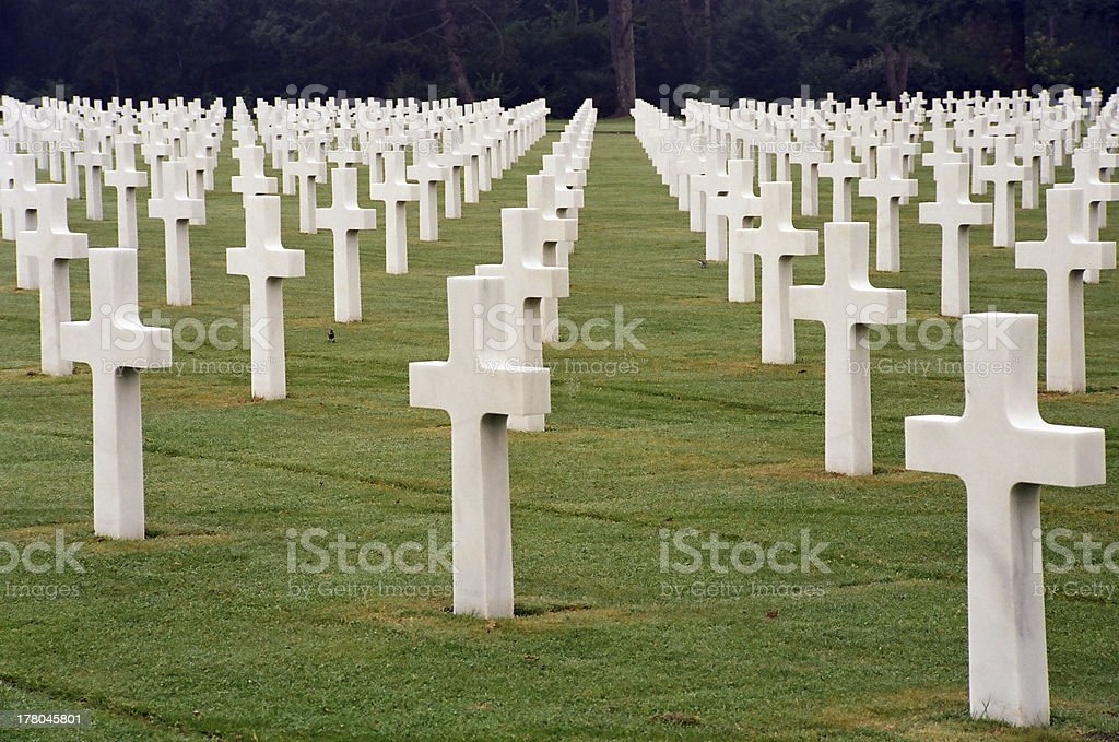 Normandy Cemetery royalty-free stock photo