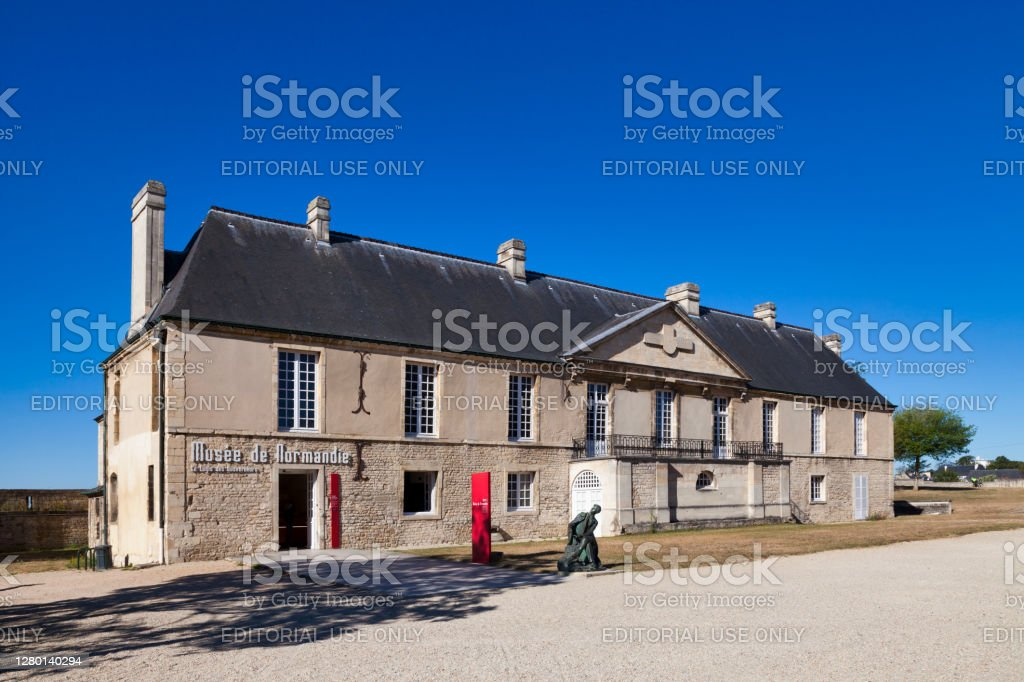 Normandy Museum in Caen Caen, France -  August 06 2020: The Normandy Museum is a municipal museum founded in 1946. It opened within the walls of the Château de Caen in 1963. Architecture Stock Photo