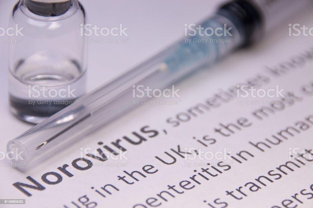 Norovirus stock photo