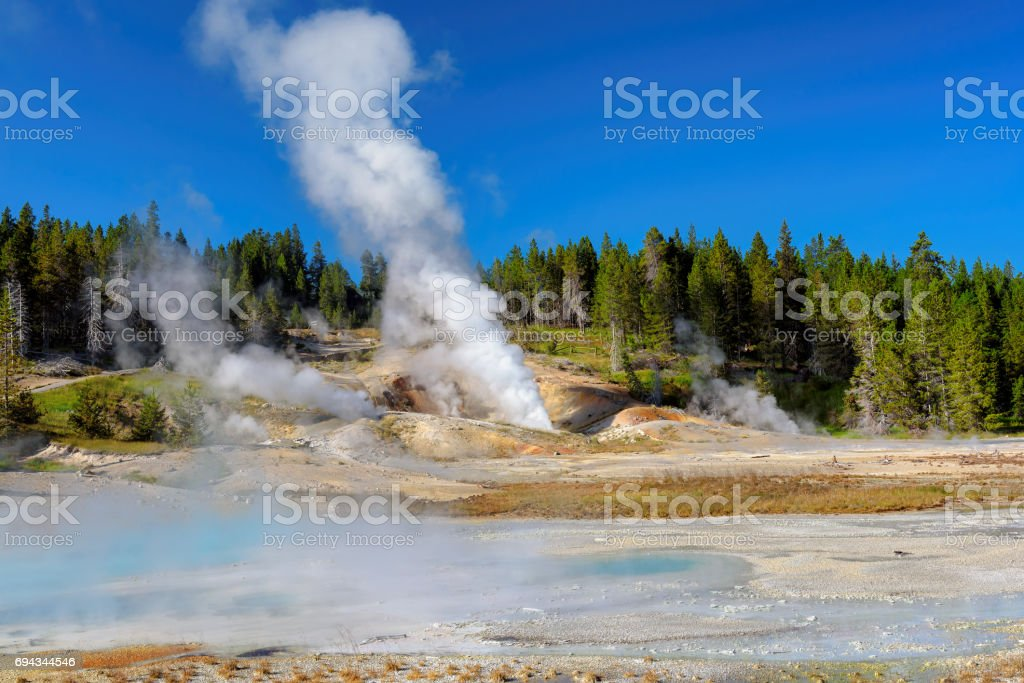 Norris Geyser Basin, Yellowstone stock photo