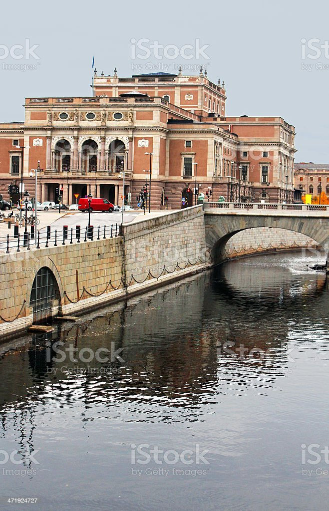 Norrmalm borough, with famous Royal Swedish Opera, Stockholm, Sweden stock photo