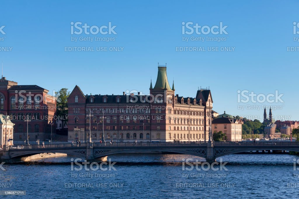 Norstedts Publishers in Stockholm Stockholm, Sweden - June 22 2019: Building of the oldest publishing house, Norstedts Förlag. It was founded in 1823 by Per Adolf Norstedt. Architecture Stock Photo