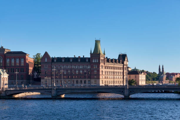 Norstedts Publishers in Stockholm stock photo