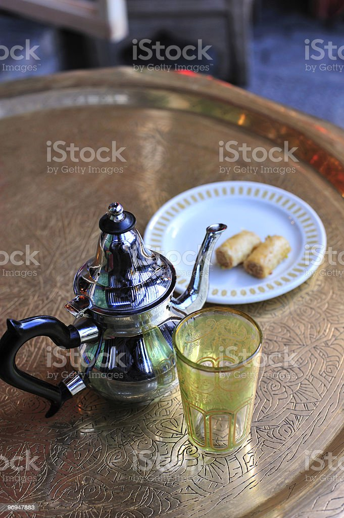 North African cafe, table detail royalty-free stock photo
