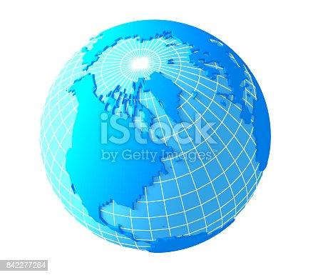 186020817istockphoto North America 3D globe 842277264
