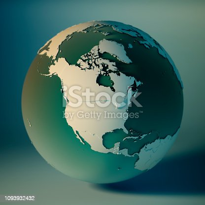 171057063istockphoto North America Globe Countries 3D Render Planet Earth DOF 1093932432