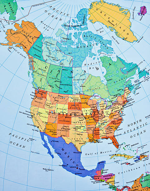 North America Map Pictures Images And Stock Photos IStock - 1829 us map