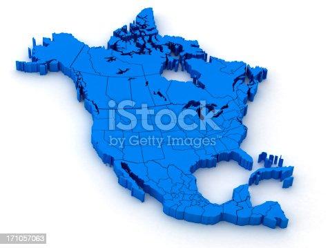 186815169istockphoto North America Map 171057063