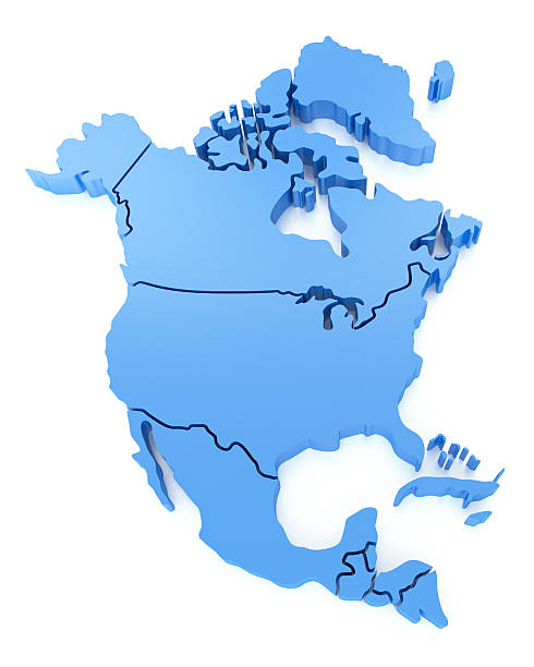 north america map - north america stock photos and pictures