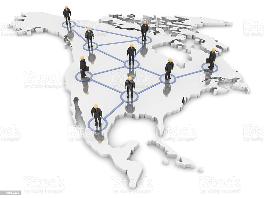 North America Network royalty-free stock photo