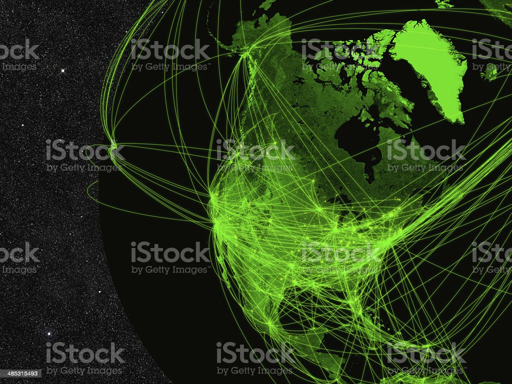 North America network stock photo
