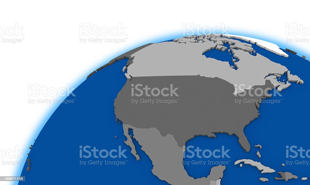 North America On Globe Political Map Stock Photo IStock - Earth political map