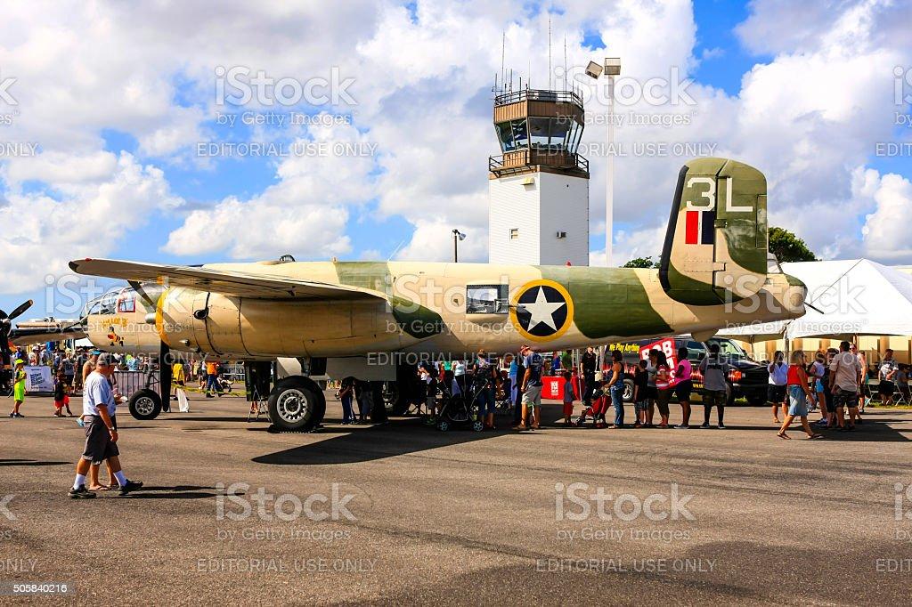 WW2 North American B25 Mitchell bomber - Killer B stock photo