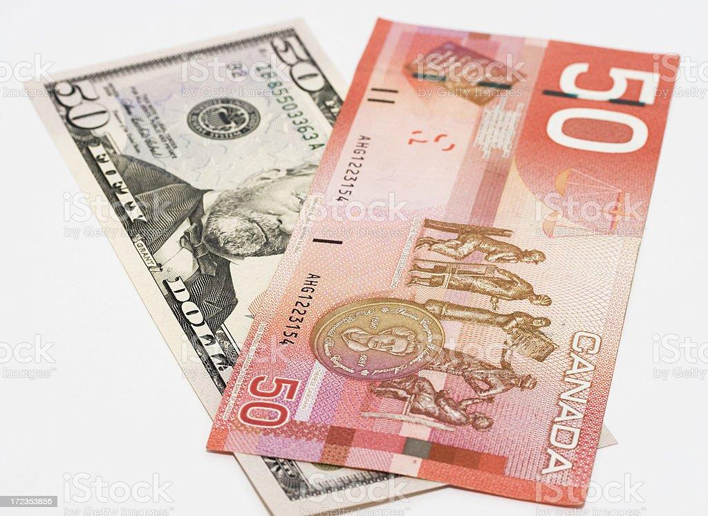 North American dollars royalty-free stock photo